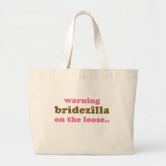 Bridezilla on the loose Fun Quote Tigerprint Tote