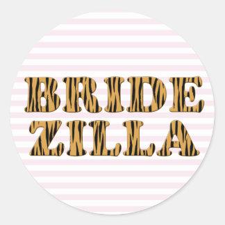 Bridezilla | Pink Stripes & Tigerprint Stickers