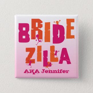Bridezilla (S) 2 Inch Square Button