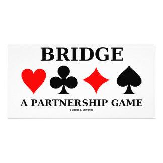 Bridge A Partnership Game Photo Card