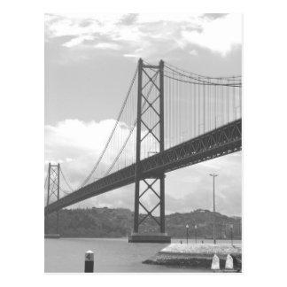 Bridge across Tejo River Postcard