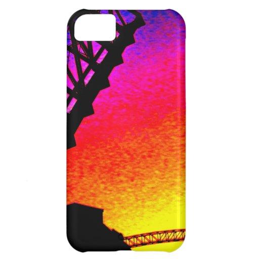 Bridge against Rainbow Sunset iPhone 5C Cases