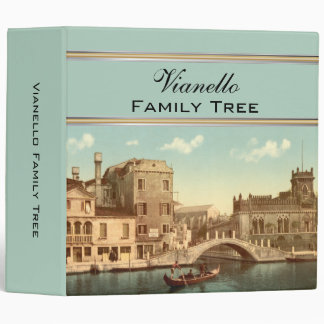 Bridge and Canal, Venice, Italy Family Tree 3 Ring Binders
