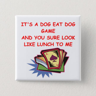 BRIDGE and card player 2 Inch Square Button
