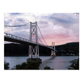 Bridge and Flag Postcard
