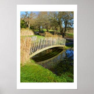 Bridge and pond poster
