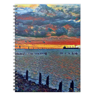 Bridge and Sea Notebook