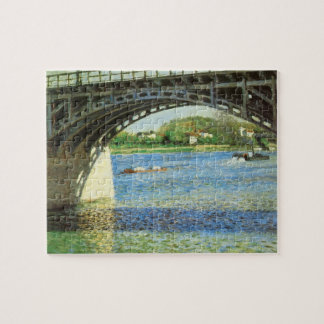 Bridge at Argenteuil by Gustave Caillebotte Jigsaw Puzzle