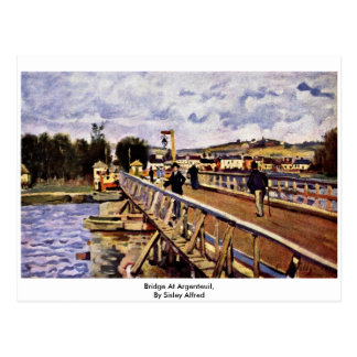 Bridge At Argenteuil,  By Sisley Alfred Postcard