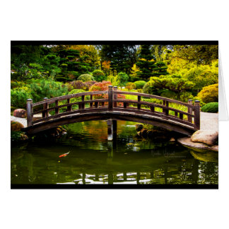 Bridge at Hakone Gardens Card
