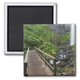 Bridge at Latourell Falls, Columbia River Gorge, Square Magnet