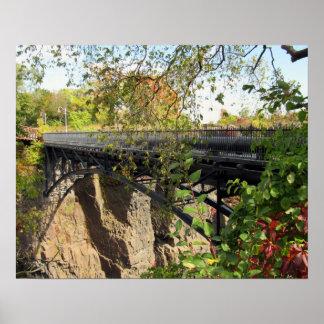Bridge at Mary Ellen Kramer Great Falls Park, NJ Poster