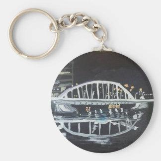 bridge at night keychain