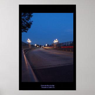 Bridge at Night Poster