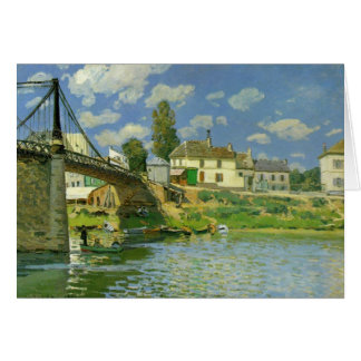Bridge at Villeneuve la Garenne ~ Alfred Sisley Card