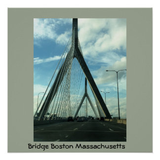 Bridge Boston Massachusetts Poster