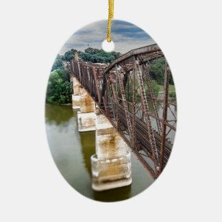 Bridge Ceramic Oval Ornament