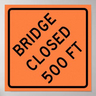 Bridge Closed Highway Sign