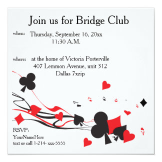 Bridge Club Card