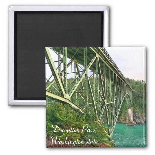 bridge, Deception Pass, Washington state Fridge Magnet
