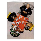 Bridge Game by Norman Rockwell Card