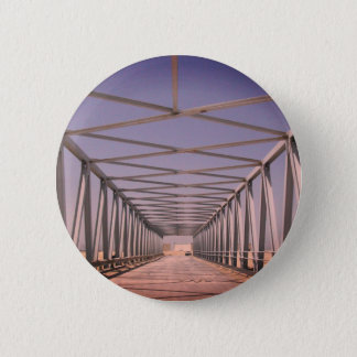 Bridge in Abu Dhabi [Evening remix]: Vintage Photo 2 Inch Round Button