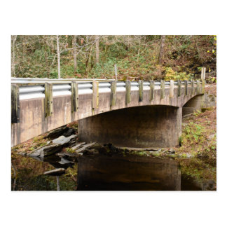 Bridge in Cherokee National Forest Tennessee fall Postcard