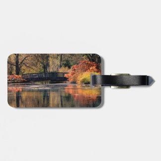 Bridge in the Fall Luggage Tag
