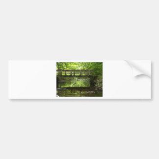 Bridge in the Woods Bumper Sticker