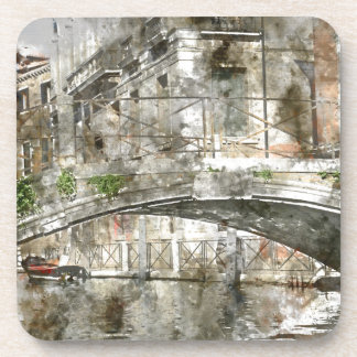 Bridge in Venice Italy Beverage Coasters