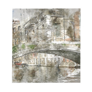 Bridge in Venice Italy Canals Notepad