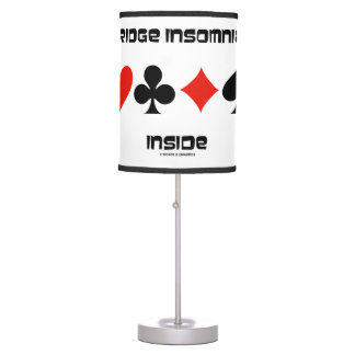 Bridge Insomniac Inside Four Card Suits Humor Table Lamp