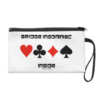 Bridge Insomniac Inside Four Card Suits Humor Wristlet
