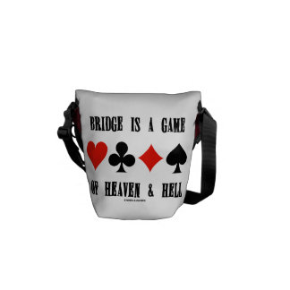 Bridge Is A Game Of Heaven & Hell (Card Suits) Messenger Bag
