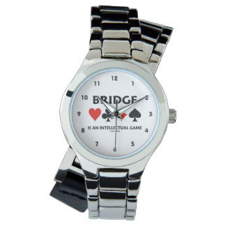 Bridge Is An Intellectual Game (Four Card Suits) Wrist Watch