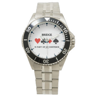 Bridge Is Part Of My Existence Four Card Suits Wristwatch