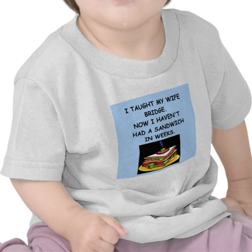 bridge joke shirts