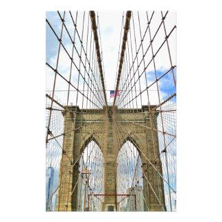 Bridge New York Brooklyn City Building Structure Stationery