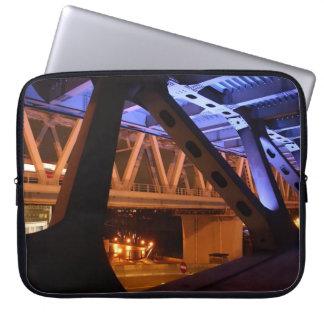 Bridge Night in the city Laptop Sleeve