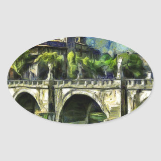 Bridge Of Angels Oval Sticker