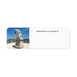 Bridge Of Lions Return Address Label