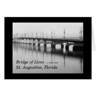 Bridge of Lions St. Augustine, Florida Card
