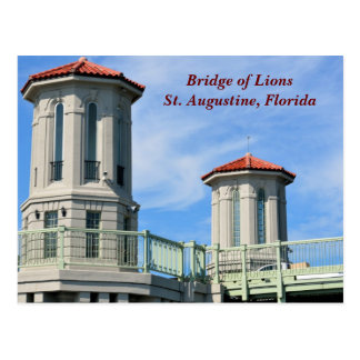 Bridge of Lions St. Augustine, Florida Postcard