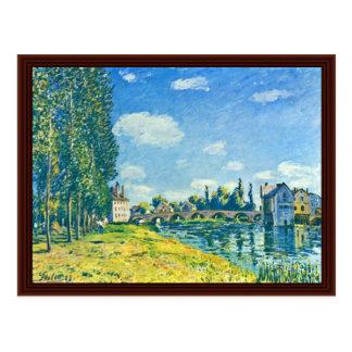 Bridge Of Moret In Summer By Sisley Alfred Postcard