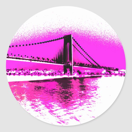 Bridge of Pink Dreams sticker