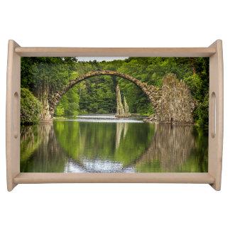 Bridge of Romance in Germany Serving Tray
