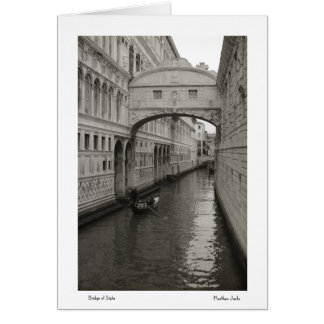 Bridge of Sighs Notecards Card