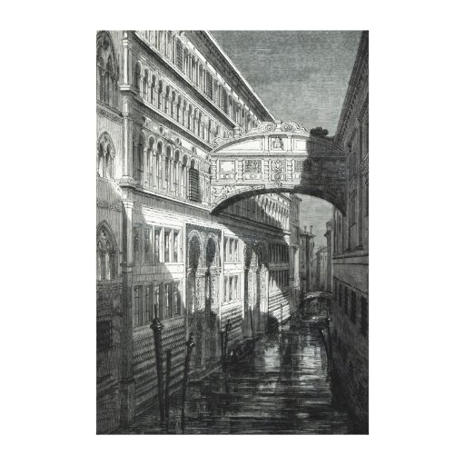 Bridge of Sighs, Venice Stretched Canvas Prints
