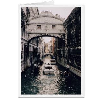 Bridge of Sighs, Venice, Italy Card