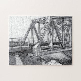 Bridge old jigsaw puzzle